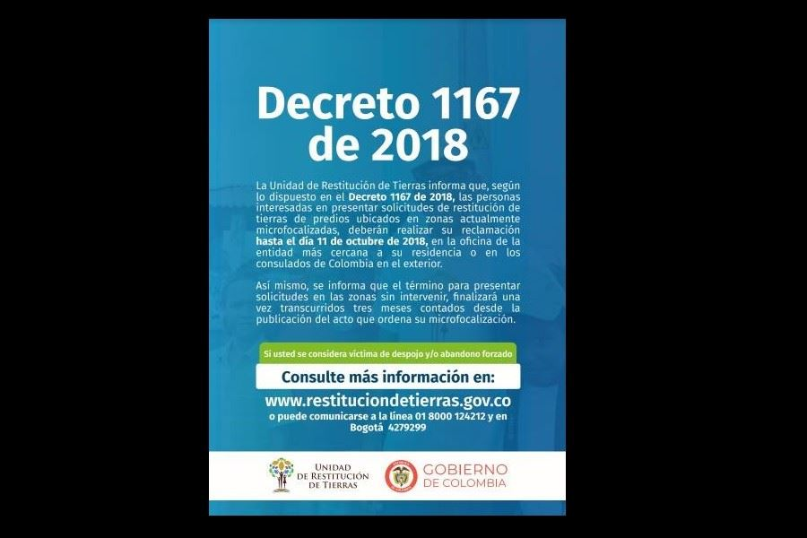 Decreto 1167 De 2018 Dirigido A La Poblacin Victima Del Conflicto Armado